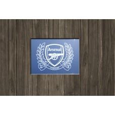 Arsenal FC 125th sandblasted mirror